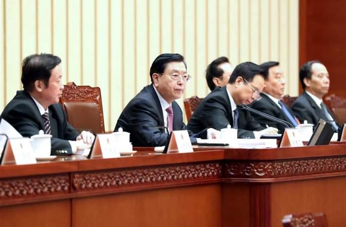 12기 전인대 5차회의 주석단 제3차회의 개최