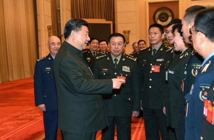 시진핑 주석, 해방군 대표단 전체회의 참석