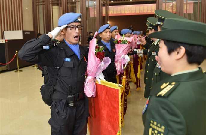 중국 제4차 라이베리아 주둔 평화유지 폭동진압 경찰 개선