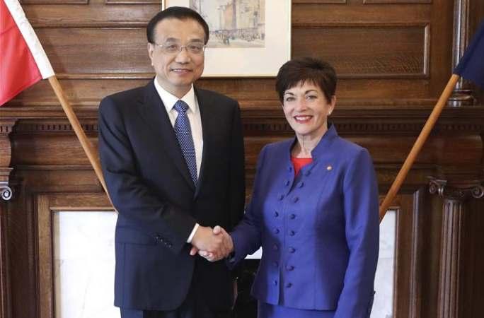 리커창 총리, 팻시 레디 뉴질랜드 총독 회견