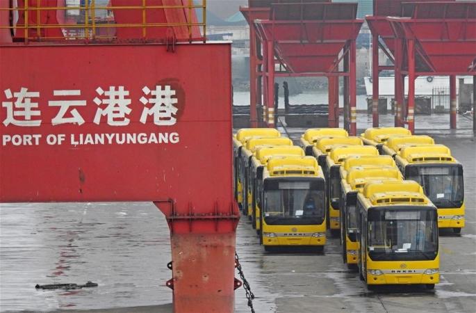 (일대일로·굿 매매) 중국 산 대형 버스 미얀마로 수출, 해상 실크로드 항행에 올라