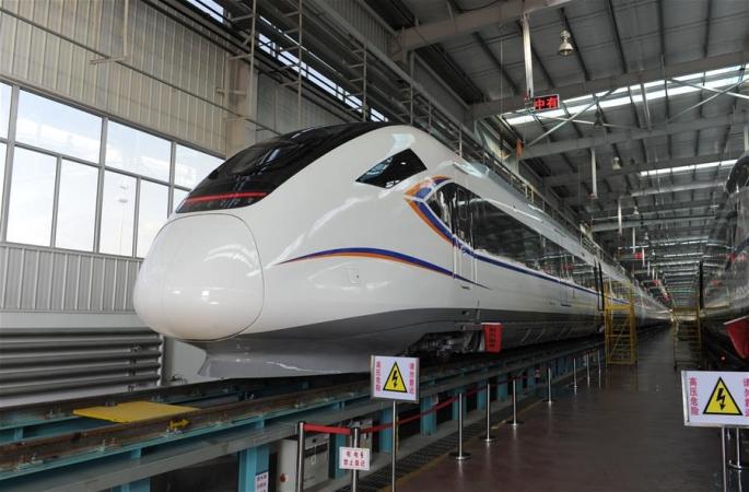 中 최초 시속 160km 도시 간 탄환열차 정식 납품