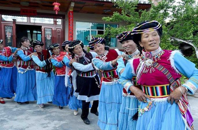 윈난 란핑: 푸미족 주민의 행복한 생활