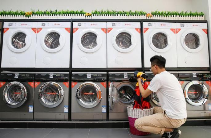 """""""공유""""세탁기, 상하이 캠퍼스서 선보여"""