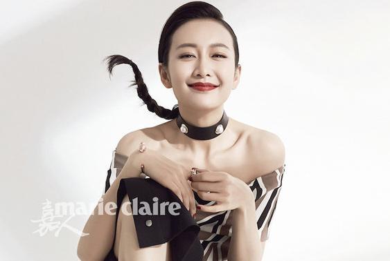 왕어우 최신 패션 화보 공개, 전갈자리 여자의 자신감과 신비감 연출