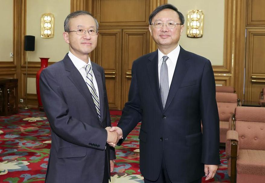 양제츠, 임성남 한국 외교부 1차관 회견