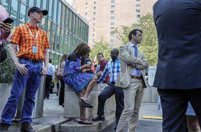 뉴욕 유엔 본부 청사, 화재 경보로 사람들 대피…근 반시간 후 경보 해제