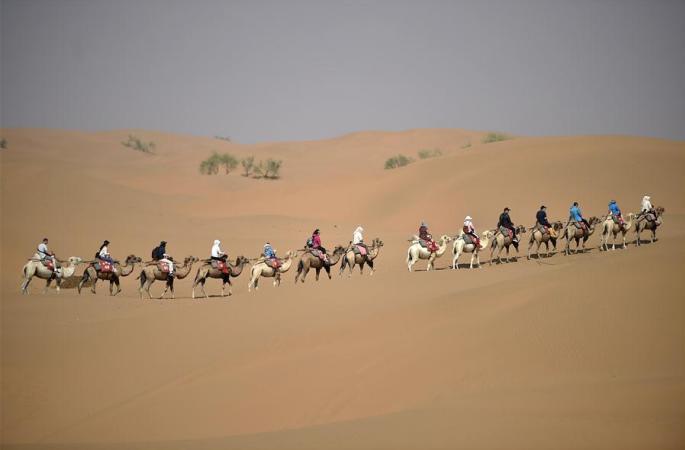 사버터우 풍경구서 사막 여행
