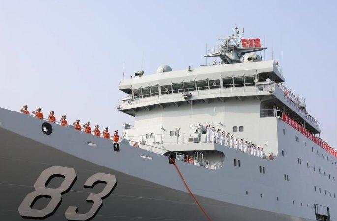 중국 해군 치지광함 처음으로 원항 실습임무 실시