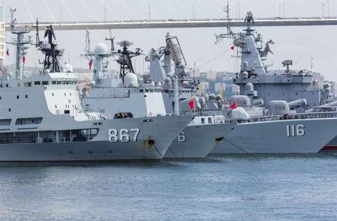 '해상 합동—2017': 中 해군 함대, 俄 블라디보스톡에 도착