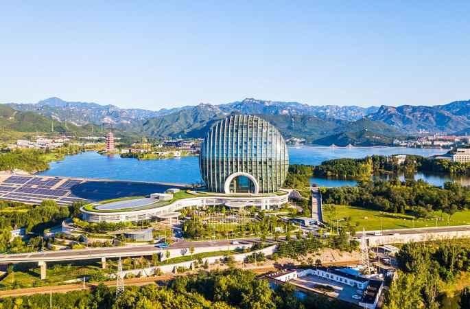 베이징 : 옌치후의 가을 풍경 그림같아