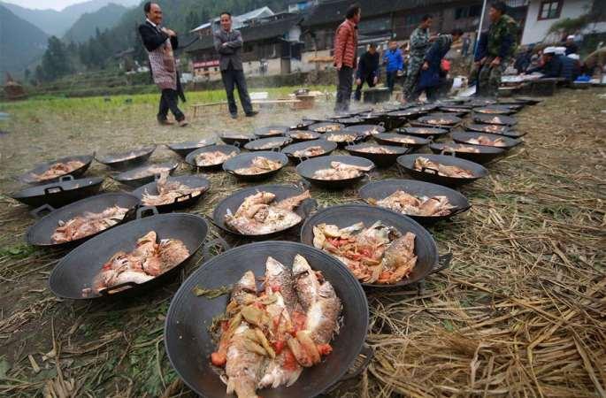 구이저우 단자이:풍년'축하연'