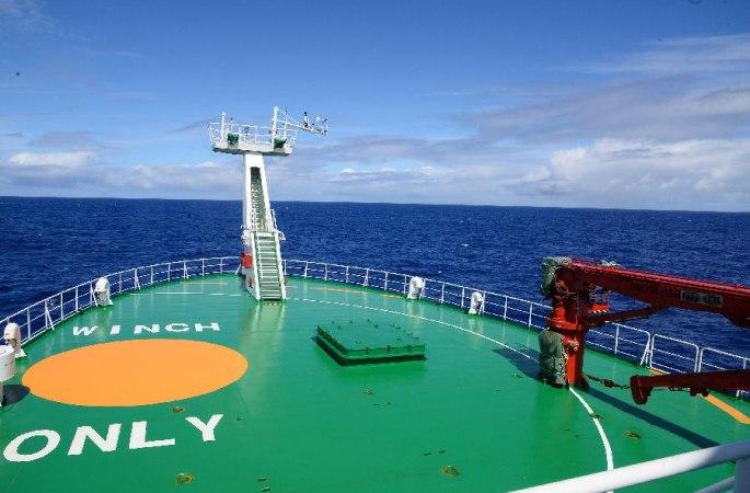 中 첫 세계해양종합과학탐사 세번째 항행구간 임무 원만히 완성
