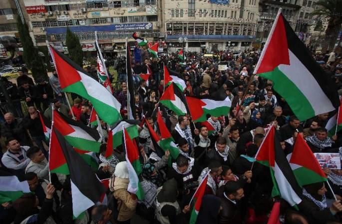 팔레스타인 민중, 美의 예루살렘 이스라엘 수도 인정에 항의