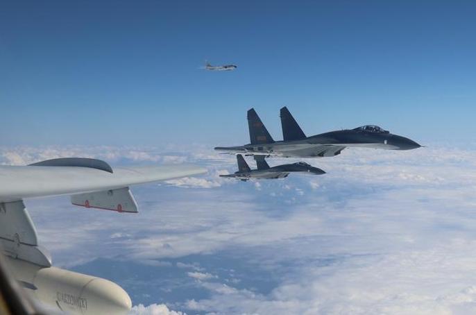 中 공군 여러 모델 전투기, 체계적으로 '섬 주변을 순찰 비행'