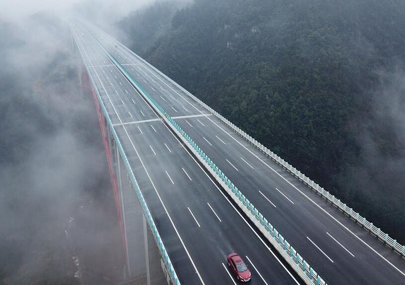란하이 고속도로 준구이 구간 확장 공사 개통 및 운영