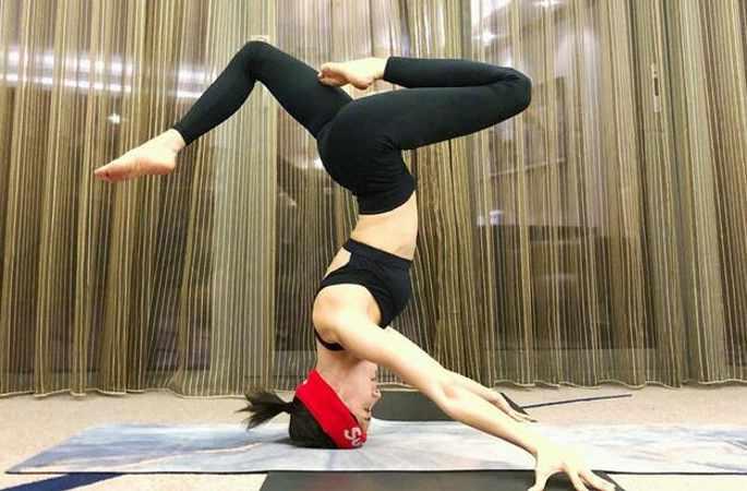왕쯔원 셀카 사진, 스포티한 섹시 몸매 뽐내