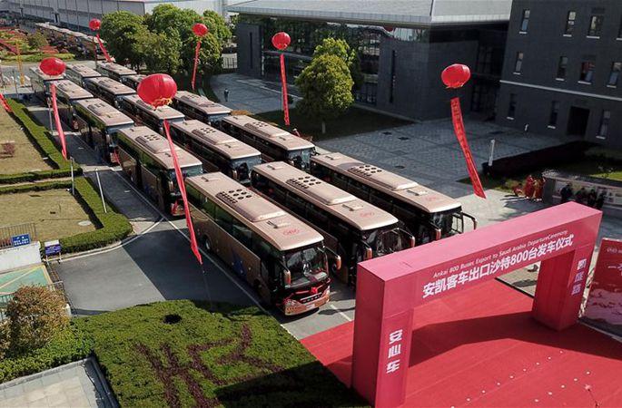 중국산 버스, 사우디 시장 진출
