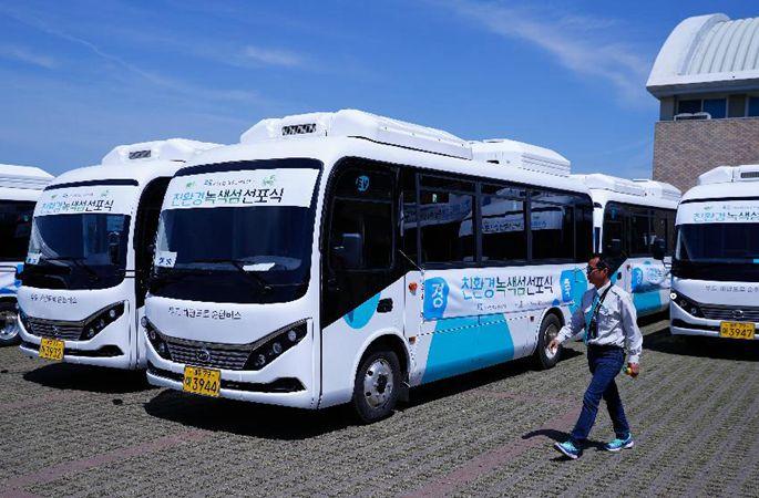 비야디, 한국 제주도에 전기버스 20대 인도