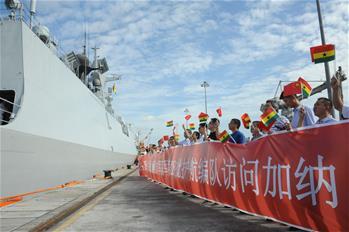 中 해군 제28차 선박호위편대 가나 방문