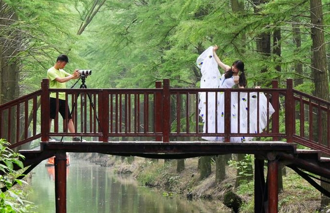 장쑤 싱화: '수상삼림' 그림 속 여행