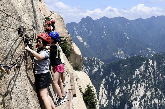 화산 장공잔도: 용감한 여행자, 절벽 관광 도전