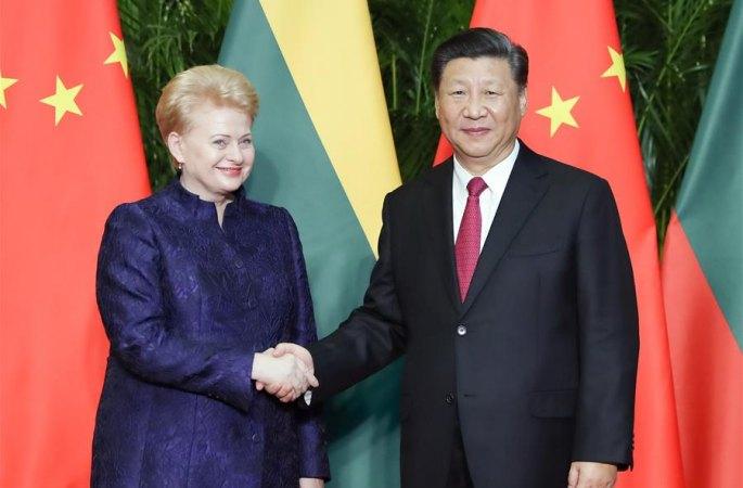 시진핑 中 국가주석, 그리바우스카이테 리투아니아 대통령 회견