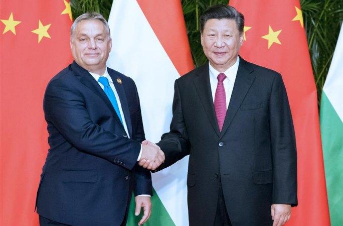 시진핑 中 국가주석, 오르반 헝가리 총리 회견
