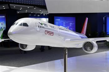 CR929 원거리 중형항공기 모형 항공우주박람회에 등장