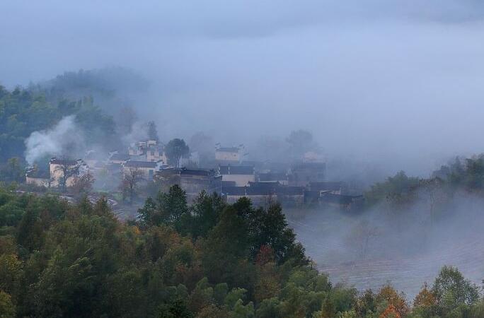 안후이 황산: 초겨울의 타촨…수묵화 풍경