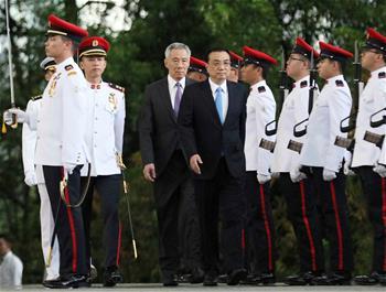 리커창 中 총리, 리커창 中 총리, 리셴룽 싱가포르 총리와 회담