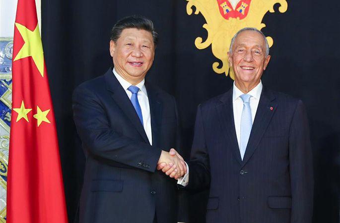 시진핑 中 국가주석, 지 소자 포르투갈 대통령과 회담
