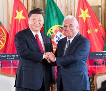 시진핑 中 국가주석, 코스타 포르투갈 총리 회견