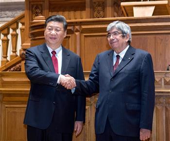 시진핑 中 국가주석, 로드리게스 포르투갈 국회의장 회견