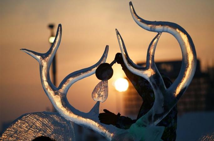 하얼빈국제얼음조각대회 작품 미리보기