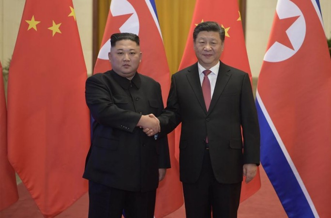 시진핑 주석, 김정은 조선로동당 위원장과 회담