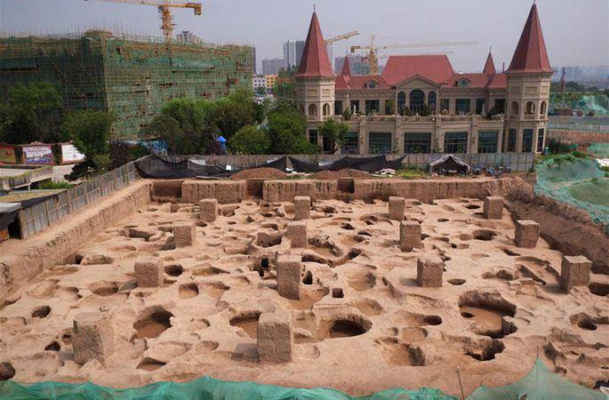 시안 마텅쿵 유적지, 친나라인의 촌락과 무덤으로 판명