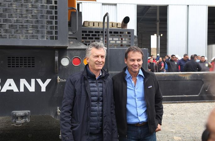 통신: 아르헨티나 대통령, 중국 기업이 건설 수주한 프로젝트 시찰