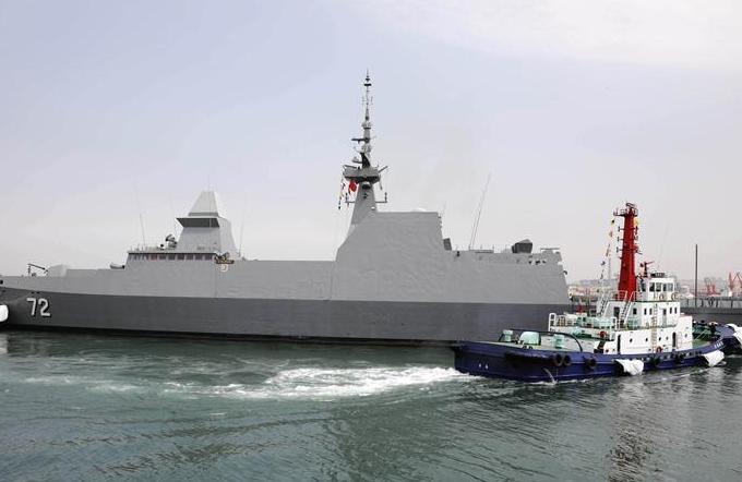 해군 창설 70주년 국제관함식 참가…싱가포르 스톨워트함 첫 번째로 칭다오항 입항