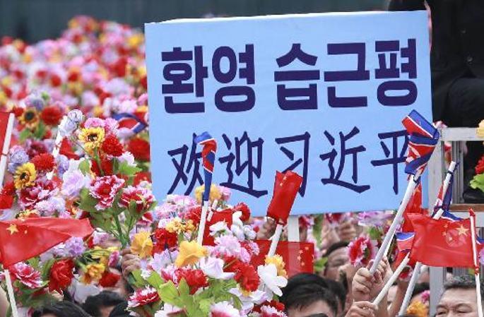 시진핑, 朝 평양 시민의 열렬한 환영 받아