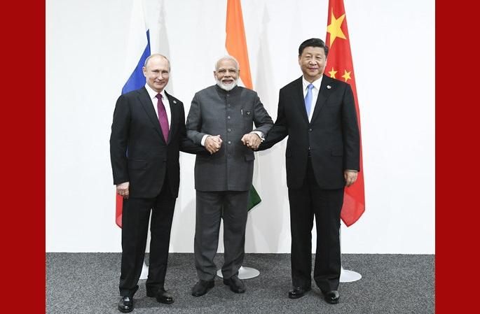 시진핑 주석, 中俄印 정상회담에 참석