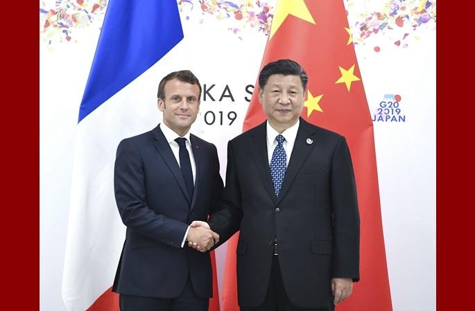 시진핑, 에마뉘엘 마크롱 프랑스 대통령 회견
