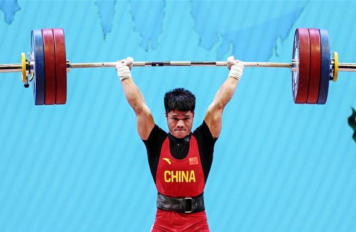 리파빈, 역도 세계 기록 깨고 금메달 획득