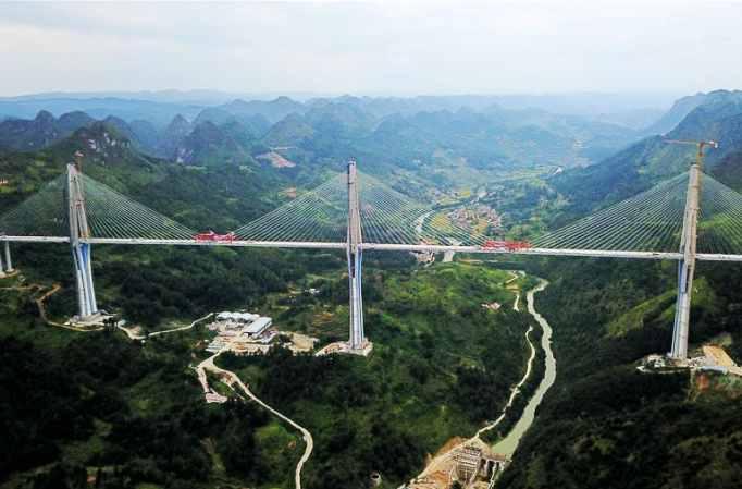 구이저우 핑탕대교 연결 성공
