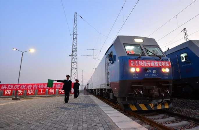 남북을 관통하는 에너지 수송 대통로 하오러바오지-지안 철도 개통