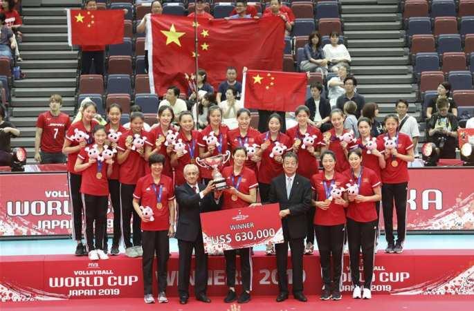 中, 여자 배구 월드컵서 우승