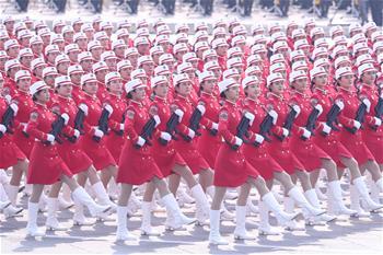 (국경 70주년·열병)민병대열