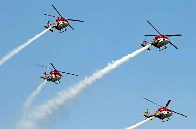 인도, '공군의 날' 축하