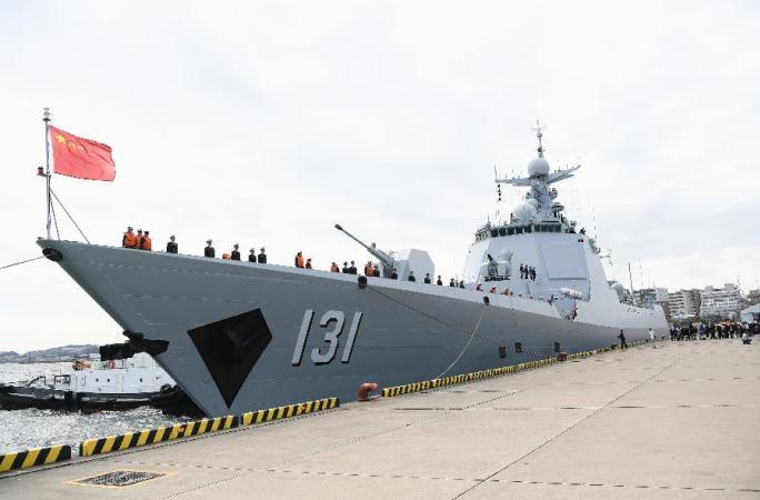 中해군 함정 日 도착…국제관함식 참가