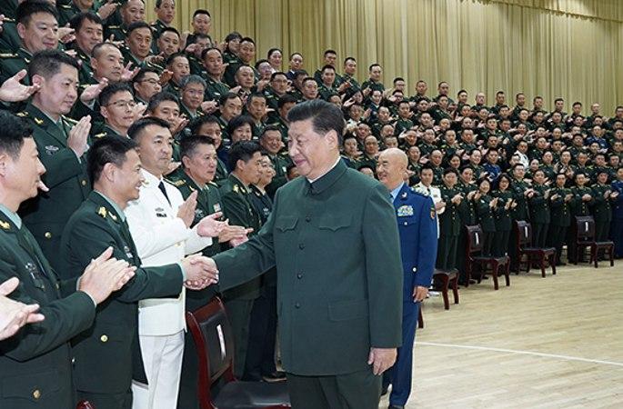 시진핑 中 국가주석, 연근보장부대 제1차 당대표대회 대표 및 후베이 주둔 부대 부사단직 이상 지도간부와 연대급 단위 주관 접견